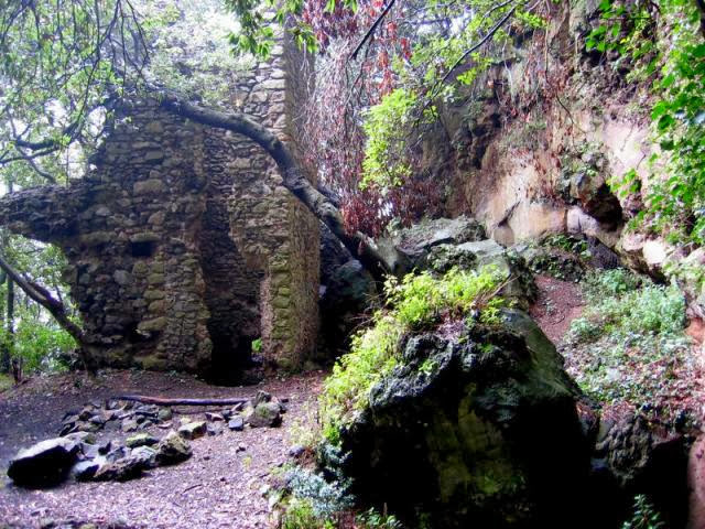Ruined monastery above Lake Albano