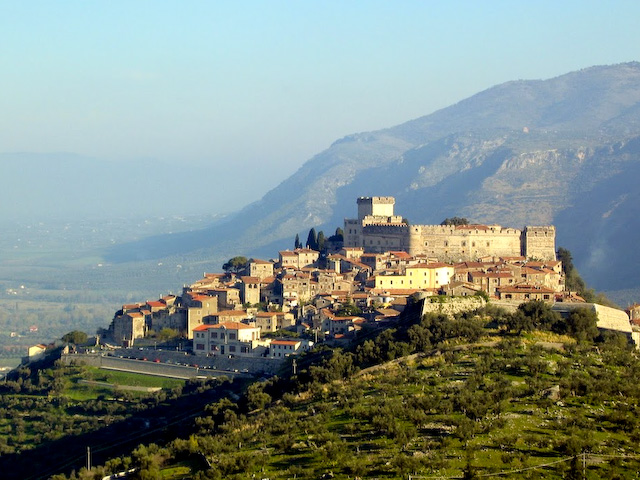 Caetani Castle crowns Sermoneta
