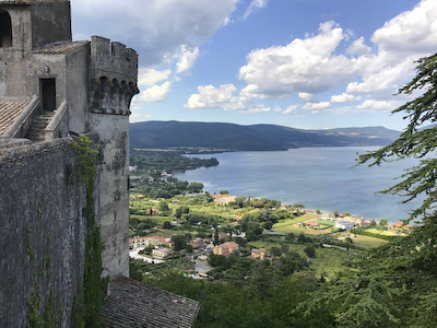 Lake Bracciano with castle