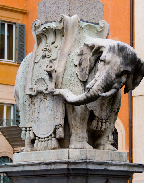 Bernini Elephant, Rome